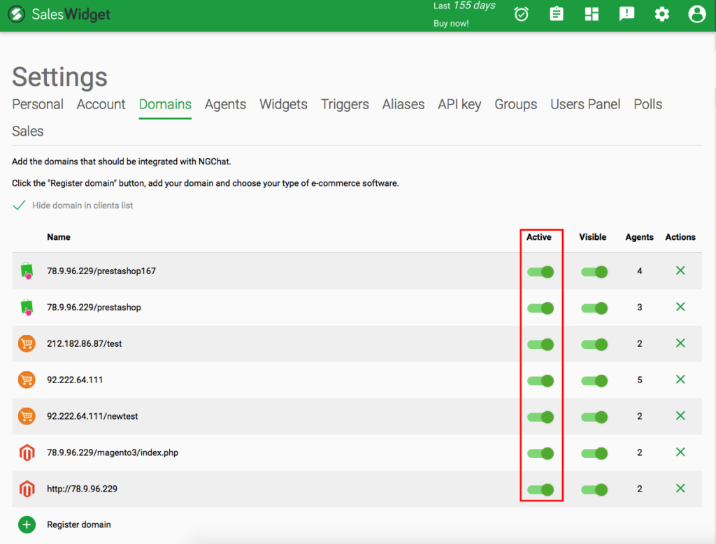 Widget Activation Setup   SalesWidget